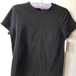NWT Basic Black Round Neck Short Sleeve T-Shirt